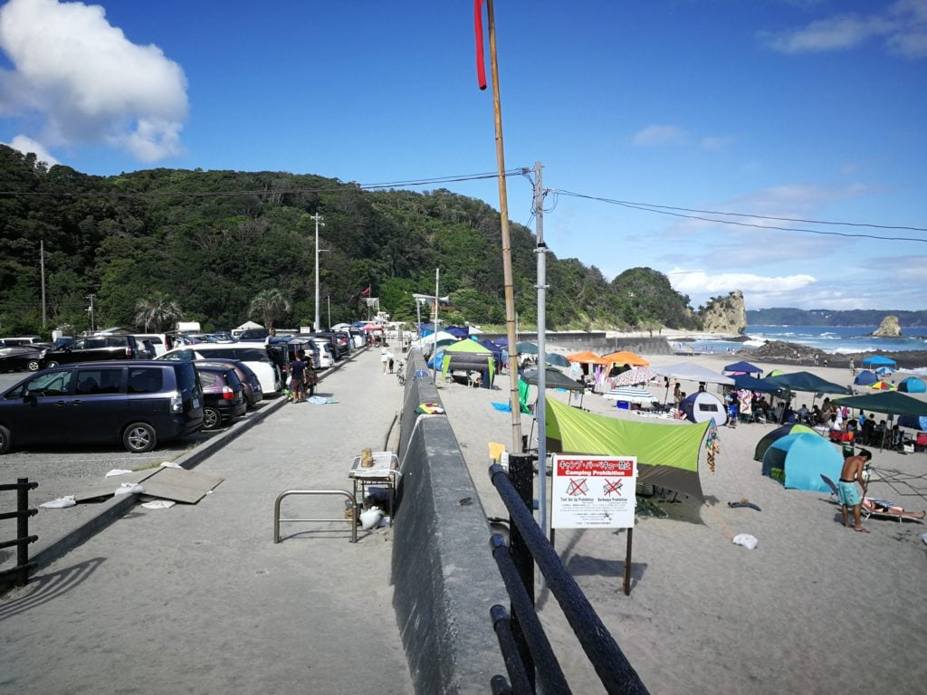 大浜海水浴場 駐車場